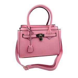 Elegant pink lock lady Bags